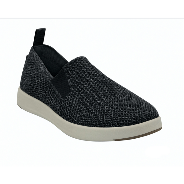 WOOLLOOMOOLOO WOMEN'S SUFFOLK SLIP-ON SHOE IN BLACK MERINO WOOL