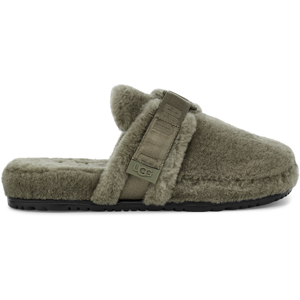 UGG All Gender Fluff It Slide In Burnt Olive Fluff