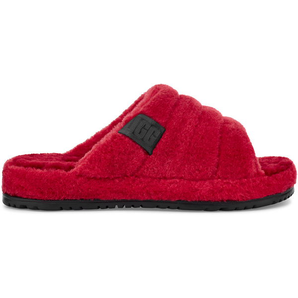 UGG All Gender Fluff You Slide In Samba Red Fluff