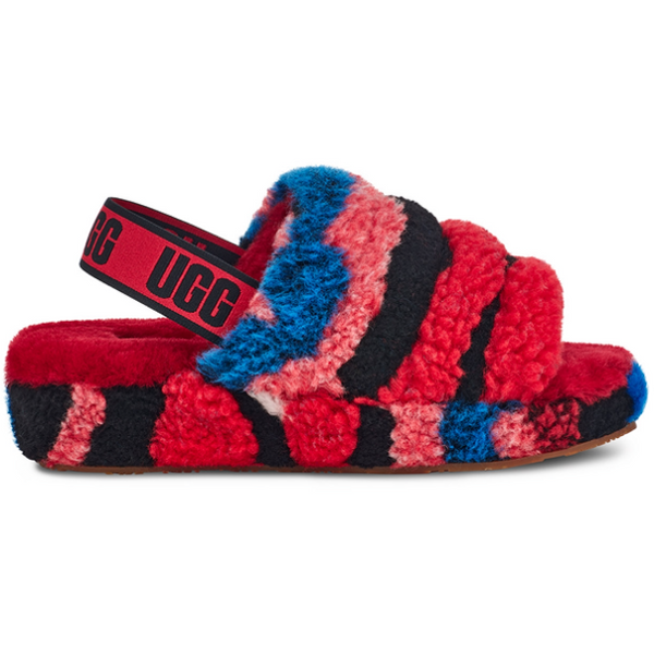 UGG Women Fluff Yeah Collage Slide In Red