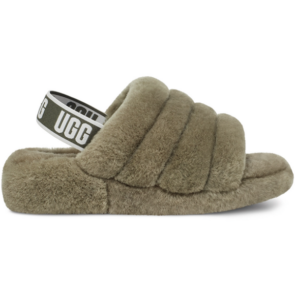 UGG Women's Fluff Yeah Slide In Burnt Olive
