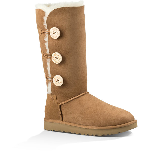 UGG Women's Bailey Button Triplet II Boot in Chestnut