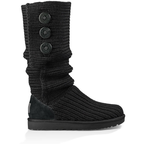 UGG WOMEN'S CLASSIC CARDY BOOT IN BLACK