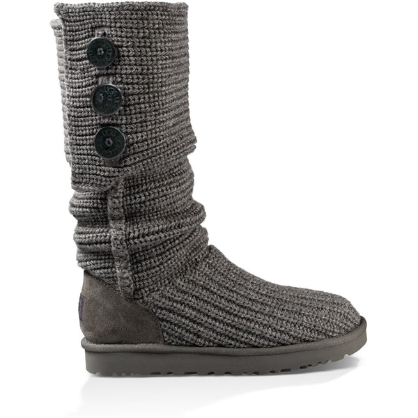 UGG WOMEN'S CLASSIC CARDY BOOT IN GREY