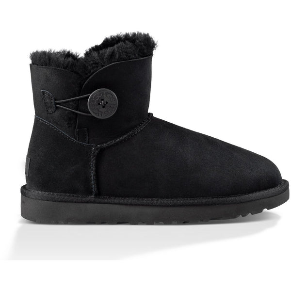 UGG WOMEN'S MINI BAILEY BUTTON II BOOT IN BLACK
