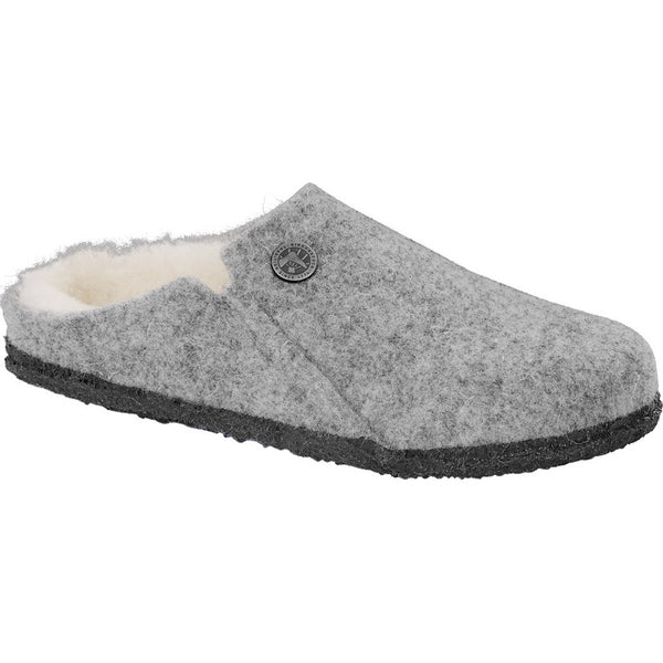 BIRKENSTOCK WOMEN'S ZERMATT WOOL FELT SLIPPER IN LIGHT GRAY