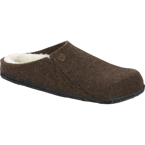 Birkenstock Men's Zermatt Wool Felt Slipper in Mocha