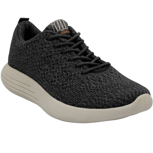 WOOLLOOMOOLOO MEN'S BELMONT SHOE IN BLACK MERINO WOOL