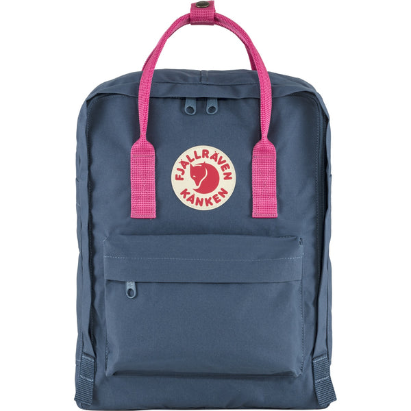 Fjallraven Kanken Classic Backpack in Royal Blue-Flamingo Pink