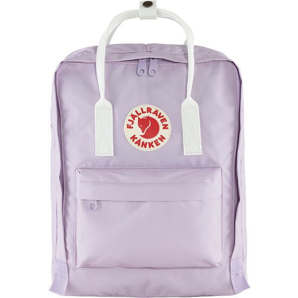 FJALLRAVEN CLASSIC KANKEN BACKPACK IN PASTEL LAVENDER-COOL WHITE