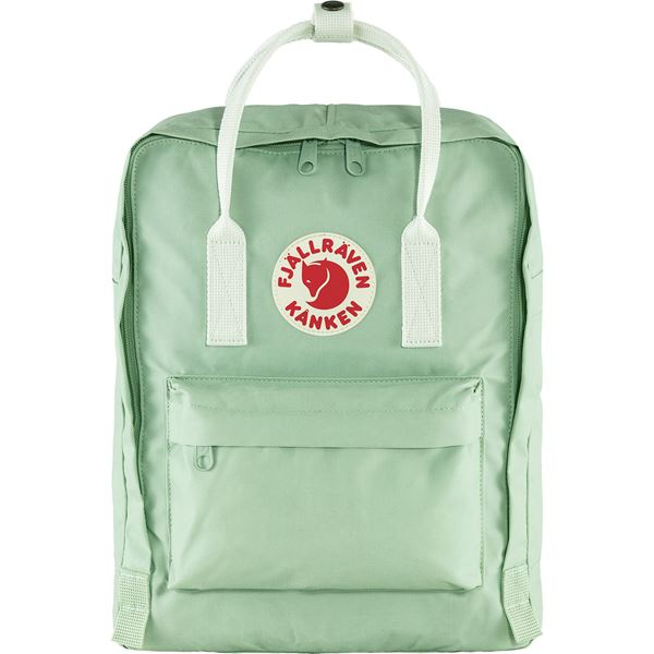 FJALLRAVEN CLASSIC KANKEN BACKPACK IN MINT GREEN-COOL WHITE