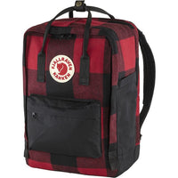 "Fjallraven Kanken Re-Wool Laptop 15"" Backpack in Red-Black"