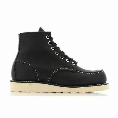 "RED WING MEN'S CLASSIC MOC 6"" BOOT IN BLACK HARNESS LEATHER"