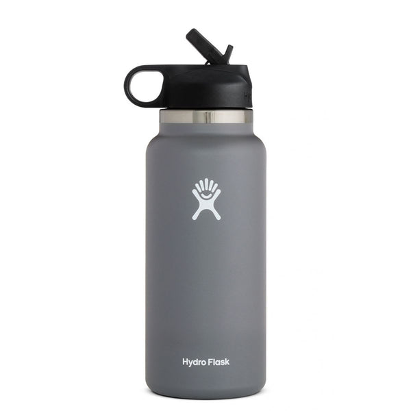 Hydro Flask 32 Oz Wide Mouth 2.0 Straw Lid in Stone