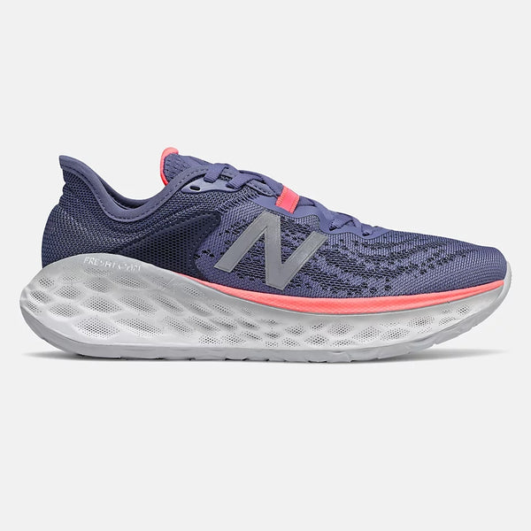 NEW BALANCE WOMEN'S FRESH FOAM MORE V2 IN MAGNETIC BLUE WITH GUAVA