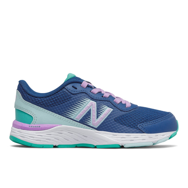 New Balance Kid's 680v6 In Captain blue with Dark Violet