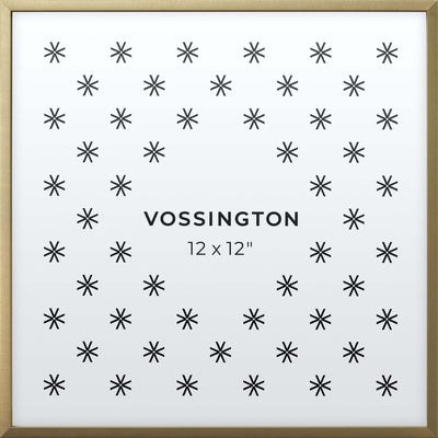 12x12 Frame - Exclusive Gold Picture Frame From Vossington