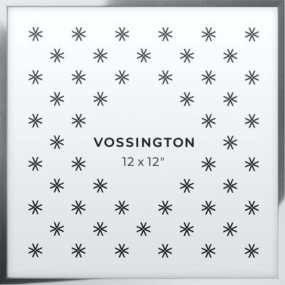 12x12 Frame - Exclusive Silver Picture Frame From Vossington