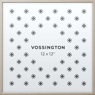 12x12 Frame - Exclusive White Wood Picture Frame From Vossington