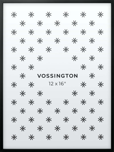 12x16 Frame - Exclusive Black Picture Frame From Vossington