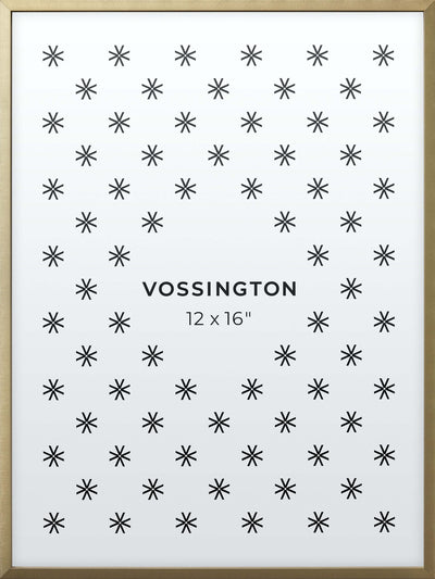 12x16 Frame - Exclusive Gold Picture Frame From Vossington