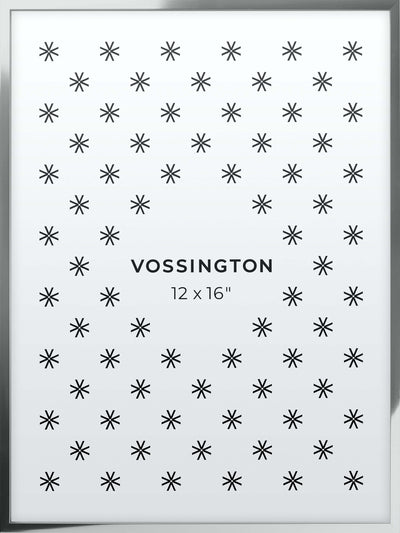 12x16 Frame - Exclusive Silver Picture Frame From Vossington
