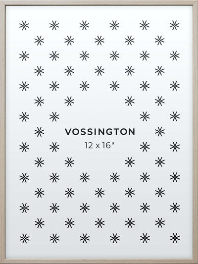 12x16 Frame - Exclusive White Wood Picture Frame From Vossington