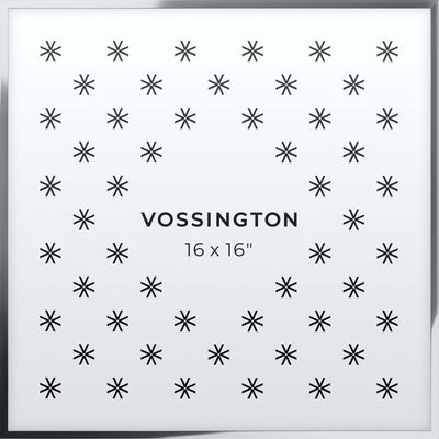 16x16 Frame - Exclusive Silver Picture Frame From Vossington