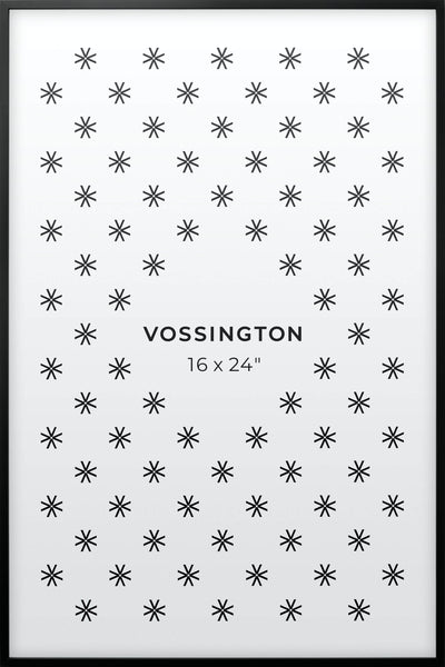 16x24 Frame - Exclusive Black Poster Frame From Vossington