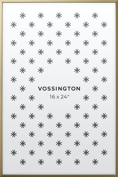 16x24 Frame - Exclusive Gold Poster Frame From Vossington