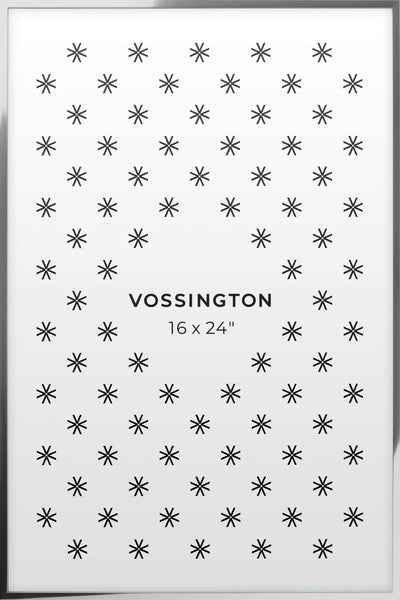 16x24 Frame - Exclusive Silver Poster Frame From Vossington