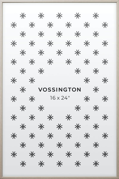 16x24 Frame - Exclusive White Wood Poster Frame From Vossington