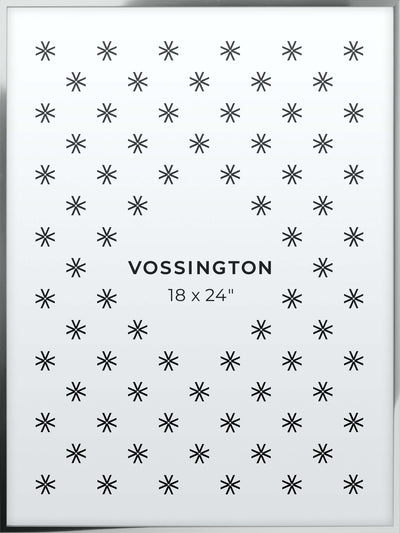 18x24 Frame - Exclusive Silver Poster Frame From Vossington