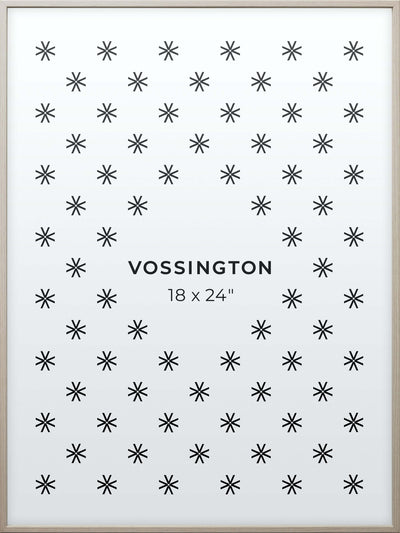 18x24 Frame - Exclusive White Wood Poster Frame From Vossington