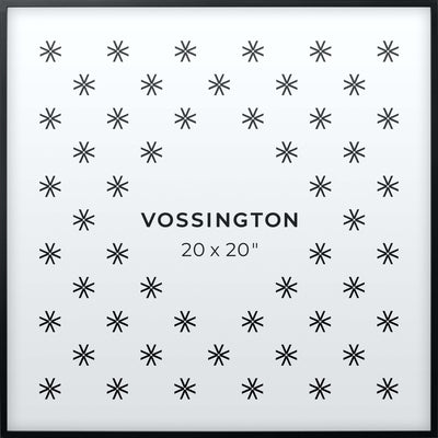 20x20 Frame - Exclusive Black Picture Frame From Vossington