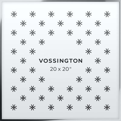 20x20 Frame - Exclusive Silver Picture Frame From Vossington