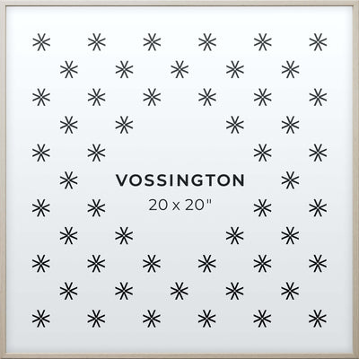 20x20 Frame - Exclusive White Wood Picture Frame From Vossington