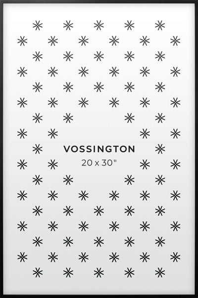 20x30 Frame - Exclusive Black Poster Frame From Vossington