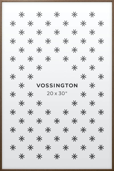 20x30 Frame - Exclusive Exotic Wood Poster Frame From Vossington