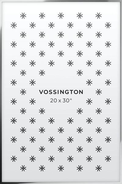 20x30 Frame - Exclusive Silver Poster Frame From Vossington