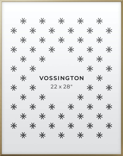 22x28 Frame - Exclusive Gold Poster Frame From Vossington