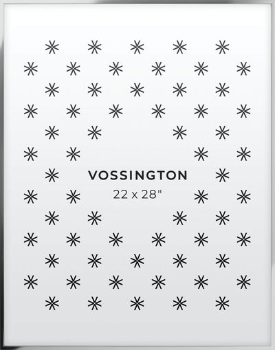 22x28 Frame - Exclusive Silver Poster Frame From Vossington
