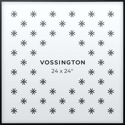 24x24 Frame - Exclusive Black Picture Frame From Vossington