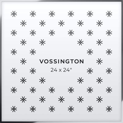 24x24 Frame - Exclusive Silver Picture Frame From Vossington