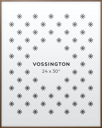 24x30 Frame - Exclusive Exotic Wood Poster Frame From Vossington
