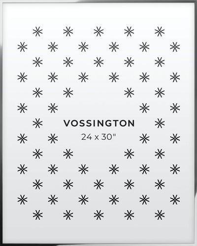 24x30 Frame - Exclusive Silver Poster Frame From Vossington