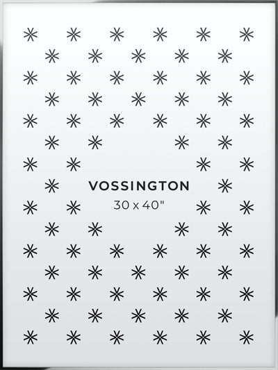 30x40 Frame - Exclusive Silver Poster Frame From Vossington
