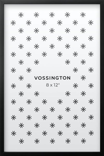8x12 Frame - Exclusive Black Picture Frame From Vossington