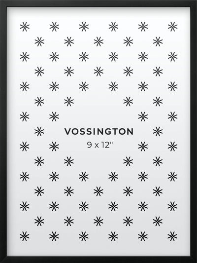 9x12 Frame - Exclusive Black Picture Frame From Vossington