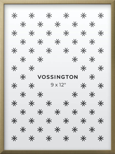 9x12 Frame - Exclusive Gold Picture Frame From Vossington